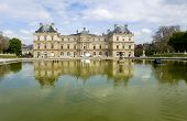 Paris. The Ancient Palace In The Luxembourg Garden