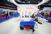 MOSCOW - NOVEMBER 15: Presentation of washing vacuum cleaners at 14th International Exhibition of pu