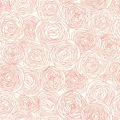 Stylish floral background made of roses. Seamless pattern can be used for wallpapers, pattern fills,