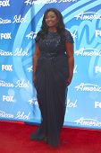 LOS ANGELES - MAY 16:  Candice Glover arrives at the American Idol Season 12 Finale at the Nokia The