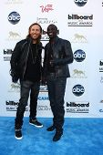 LOS ANGELES -  MAY 19:  David Guetta and Akon arrive at the Billboard Music Awards 2013 at the MGM Grand Garden Arena on May 19, 2013 in Las Vegas, NV