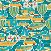 Retro seamless travel pattern.