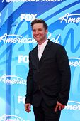 LOS ANGELES - MAY 16:  Blake Lewis arrives at the American Idol Season 12 Finale at the Nokia Theate