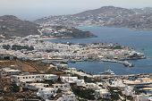 The town of Mykonos island in Greece