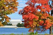 Washington DC, Lincoln Memorial no outono