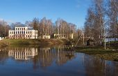 foto of uglich  - An ancient Russian town of Uglich on the banks of the great Russian river Volga - JPG