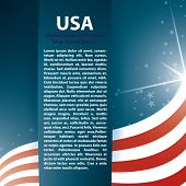 USA Flagge Stars und Text-abstrakt