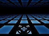 Blue Tiled Horizon