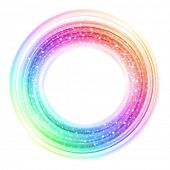 Abstract smooth colorful circle background. Raster version from vector version.