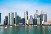 Panorama of downtown Skyline Singapore