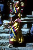 Mani Rimdu Dancer, Dressed As Tibetan God For Harvest Festival,