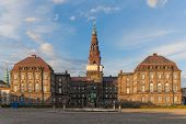 Christiansborg Palace In Evening