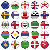 foto of sark  - Set of European Round Flag Icons - JPG