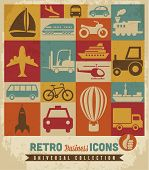 Transportation icons set.Vector