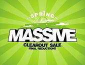 Massive spring sale design template with shopping bag