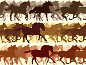picture of herd  - Horizontal vector banner - JPG