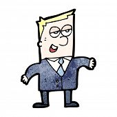 cartoon slick businessman