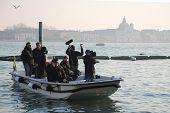 Film Crew At Venice Carnival