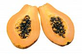 Papaya Cut In Halves