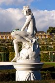 Statue At Sanssouci Palace In Berlin, Germany