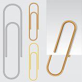 Paper clip, vector eps10 illustration