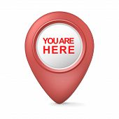 3D You Are Here Symbol