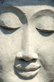 foto of budha  - budha with smiling face from bali in indonesia - JPG