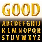 vector original golden alphabet
