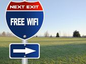 Free wifi road sign