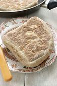 foto of baking soda  - Irish Soda Bread or Soda Farls a traditional Irish flat bread - JPG