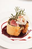 foto of beef wellington  - Fillet Wellington with fresh herbs - JPG
