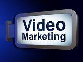 Finance concept: Video Marketing on billboard background