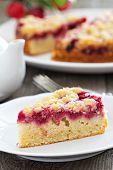 Raspberry cake on a plate