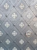Background With Gray Metal Door