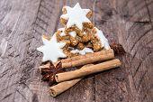 Cinnamon Sweets With Christmas Decoration