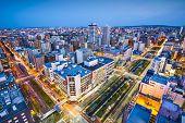 Sapporo, Japan cityscape in the central ward.