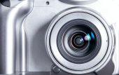 Compact Silver Modern Camera Closeup