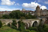 Bridge And Tower In Medieval Town poster