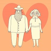 picture of elderly  - Elderly couple - JPG