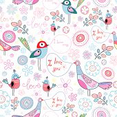 Texture Love Birds