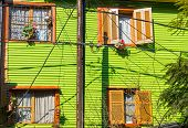 Green house in La Boca