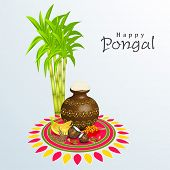 image of rangoli  - Happy Pongal - JPG
