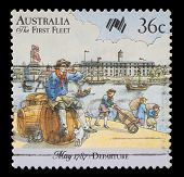 AUSTRALIA - CIRCA 1987: A stamp printed in Australia shows Sailor, 200 years of colonization of Aust