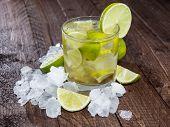 Glass Of Caipirinha With Crushed Ice