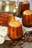 Cannelé Bordelais. French Small Cake.