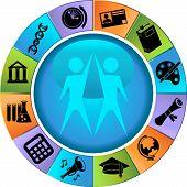 Bildung Symbol Felgen set