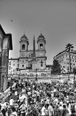 Rome - September 20: People Sitting On The Spanish Steps On September 20, In Rome, Italy.