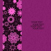 picture of queer  - Floral invitation card on grunge background - JPG