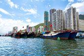 Hong Kong, Traditional Junks In The Aberdeen