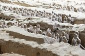 picture of qin dynasty  - Beautiful view of the terracotta army in Xian China - JPG